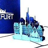 """Pop Up Karte """"Frankfurt am Main - Skyline in 3D"""" - Souvenir, Einladung, Geschenk & Reisegutschein Frankfurt a.M."""