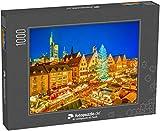 Puzzle 1000 Teile Traditioneller Weihnachtsmarkt in der Frankfurter Altstadt, Deutschland - Klassische Puzzle, 1000 / 200 / 2000 Teile, edle Motiv-Schachtel, Fotopuzzle-Kollektion 'Weihnachten'