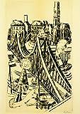 Kunstkarte Max Beckmann'Der eiserne Steg in Frankfurt am Main'