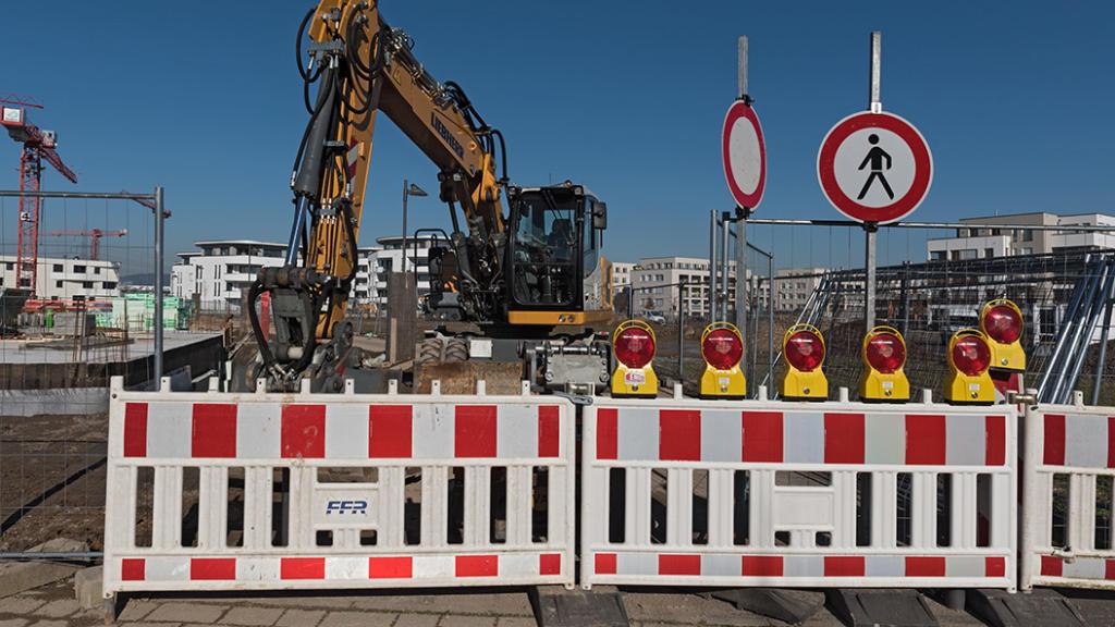 Baustelle in der Elisabethenstraße bereitet den Einzelhändlern Sorge